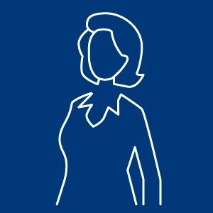Business Frau als Icon dargestellt