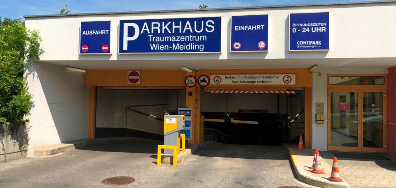 Parkhaus Traumazentrum Wien-Meidlingen